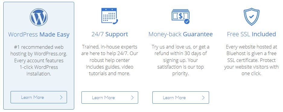 Bluehost Benefits