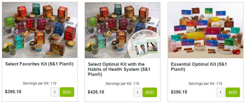 Optavia product Kits