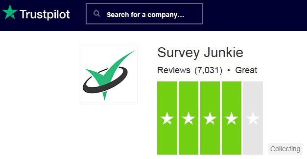 Survey Junkie Trust Pilot