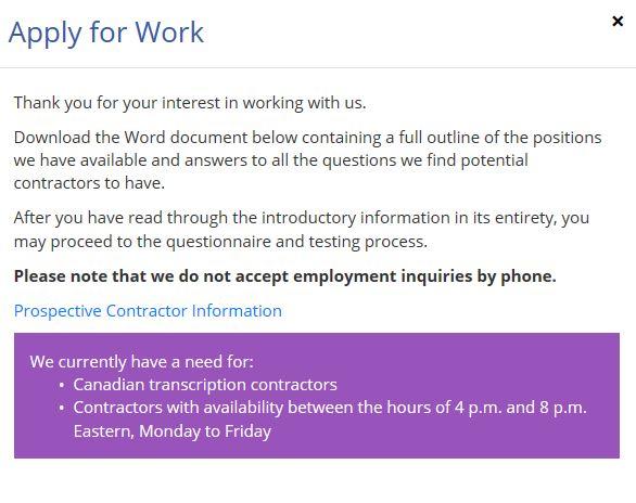 AccuTran Work Application