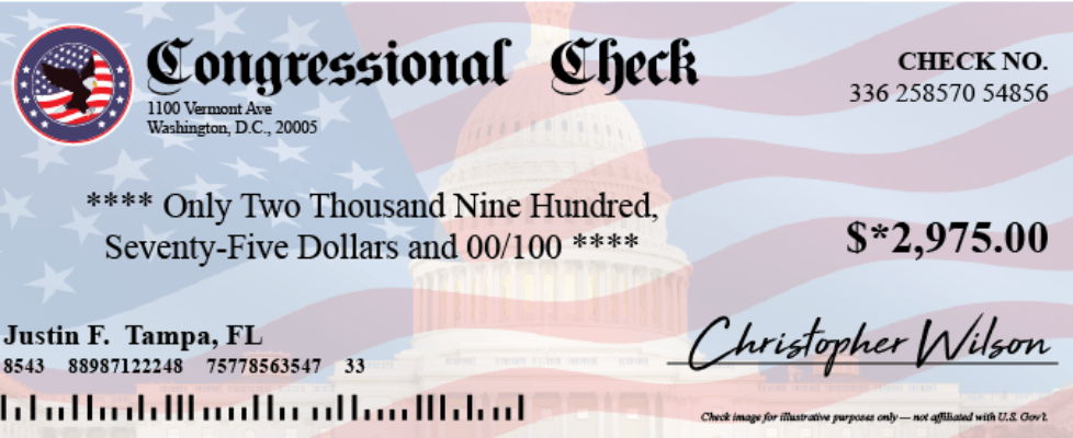 Are Congressional Checks a Scam
