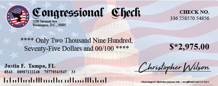 Are Congressional Checks a Scam