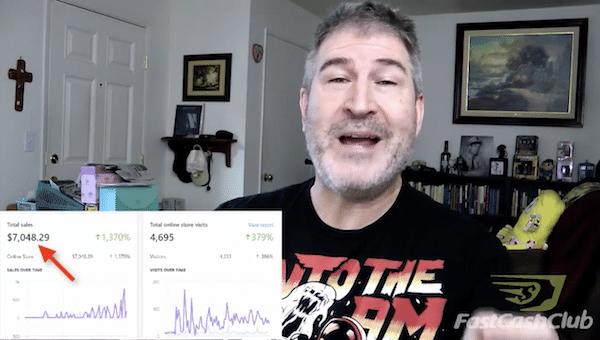 Fast Cash Club Fake Testimonial 1
