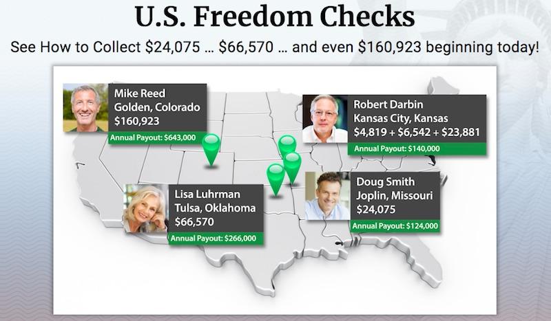Freedom Checks Fake Testimonial 1