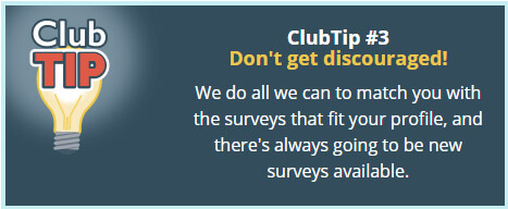 Point Club Surveys Tip