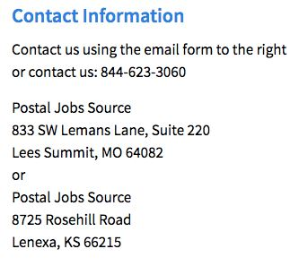 Postal Jobs Source Contact Information