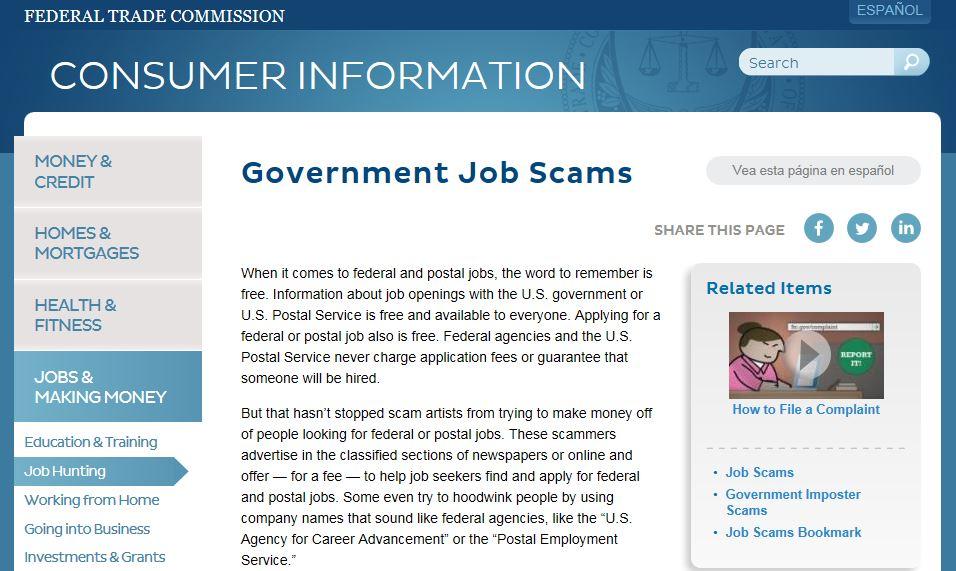 Postal Jobs Source FTC