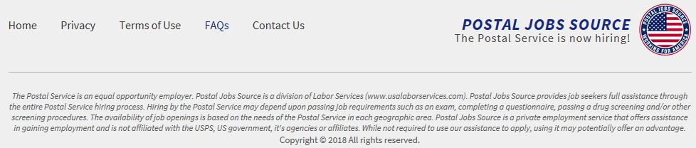 Postal Jobs Source Fine Print