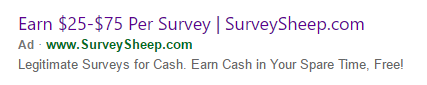 Survey Sheep Ad