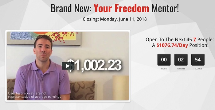 Your Freedom Mentor Scam