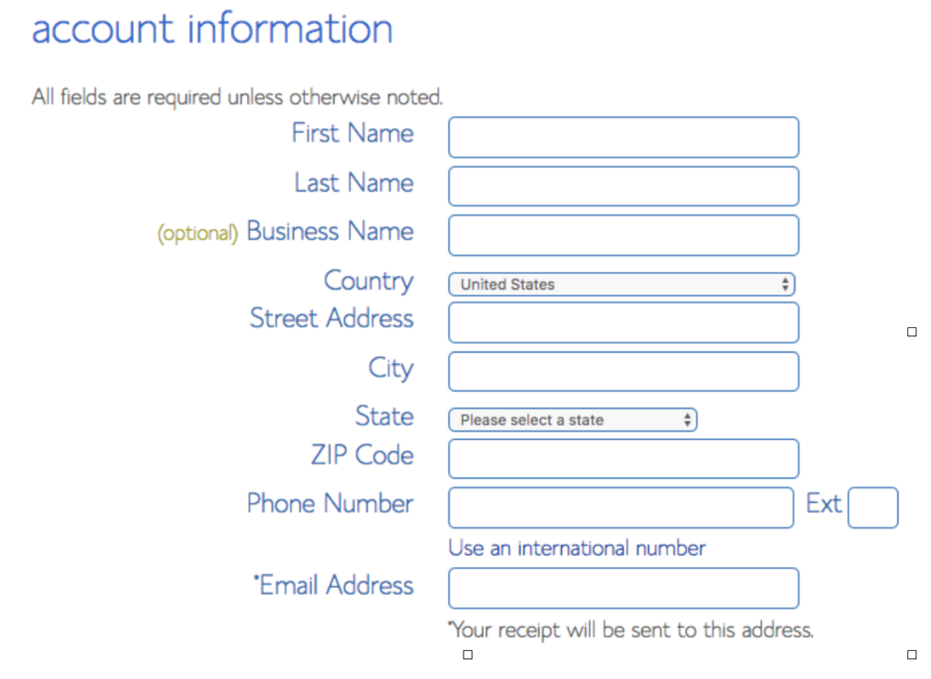 Bluehost Personal Details