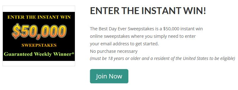 Panel Payday Best Day Ever Sweepstakes