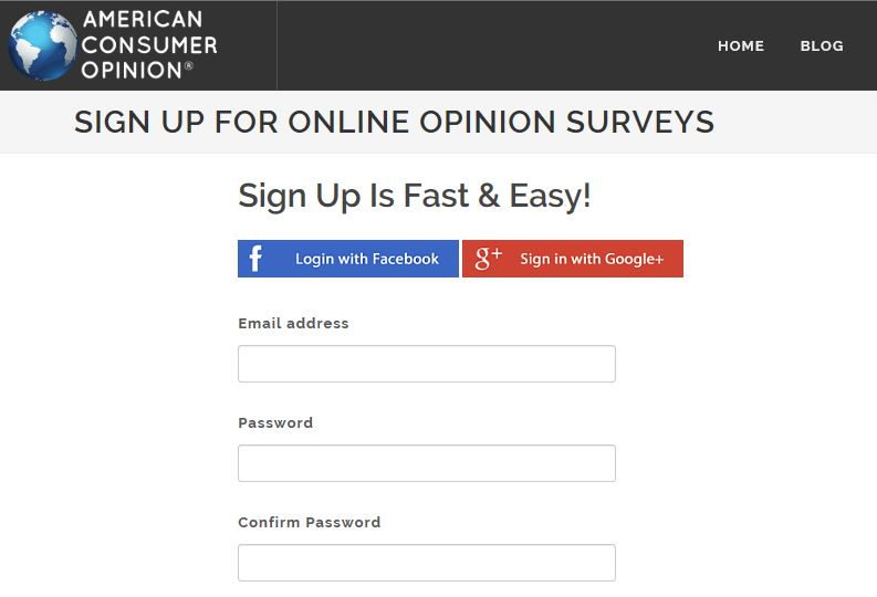 American Consumer Opinion Sign Up