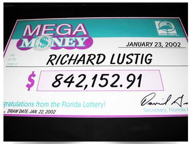 Auto Lotto Processor Richard Lustig Check