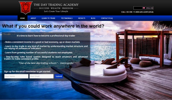 Day Trading Academy Banner