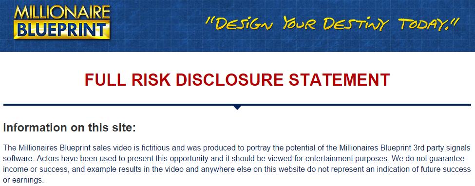 Millionaire Blueprint Disclosure