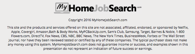 My Home Job Search Fine Print