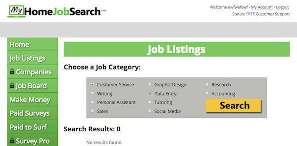 My Home Job Search Jobs