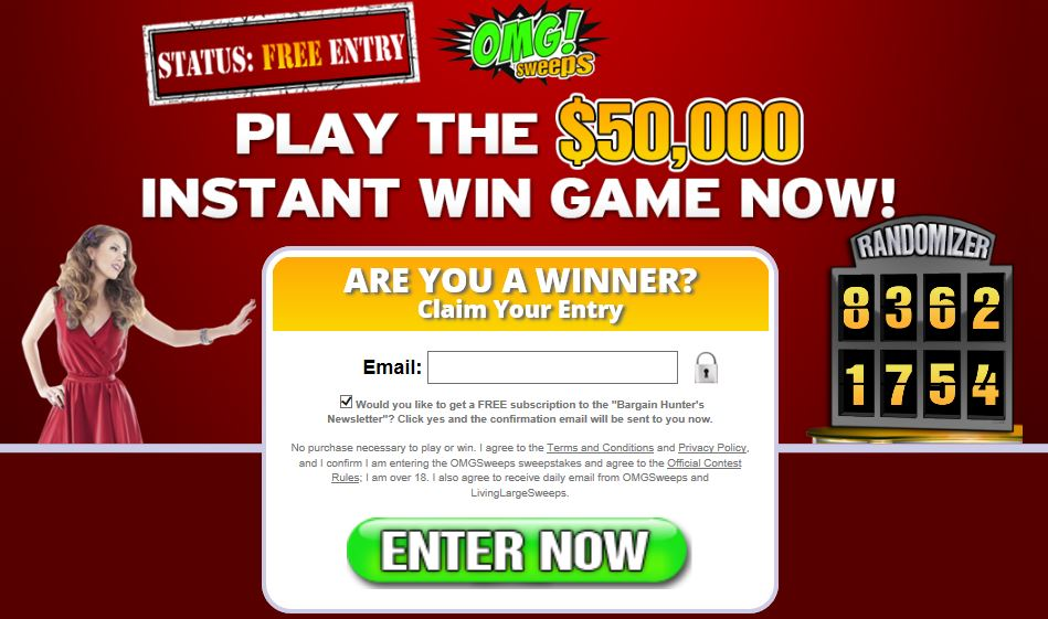 Is OMG Sweeps a Scam? Will You Really Win $50K? - Laptop