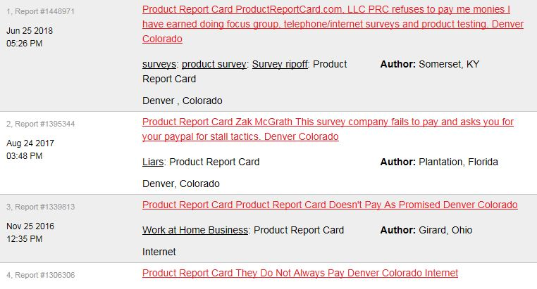 Product Report Card Complaint 2
