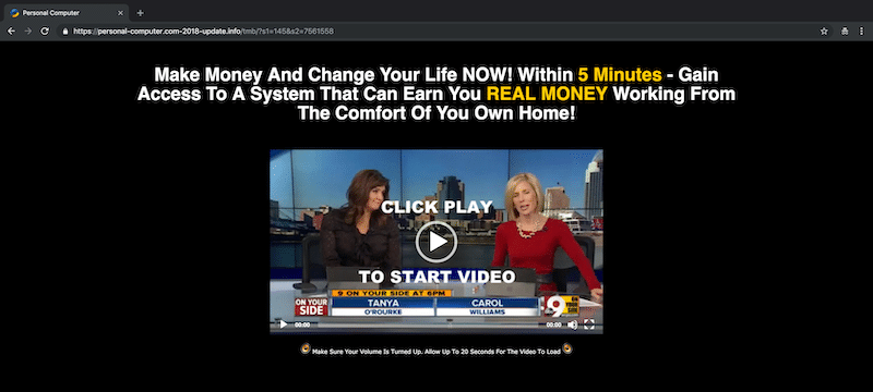 Second Income Center News Video