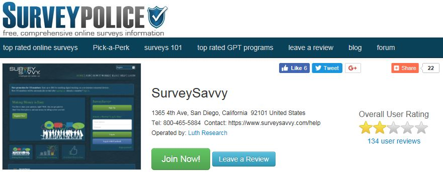 Survey Savvy Survey Police