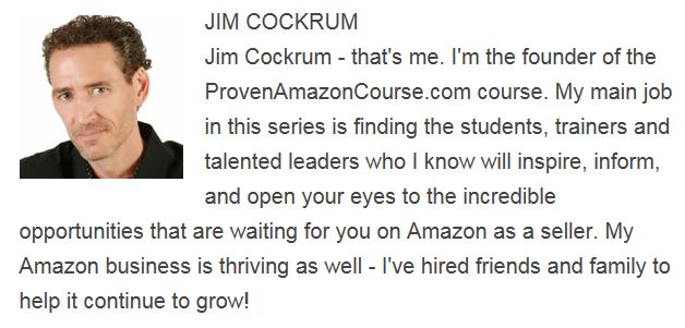 Jim Cockrum Proven Amazon Course