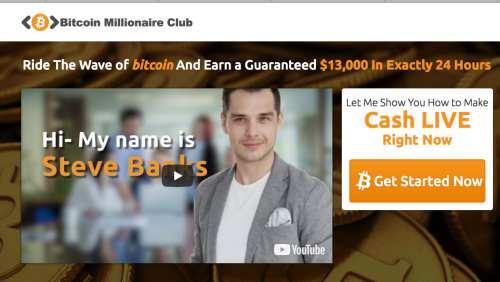 Bitcoin Millionaire Club Steve Banks 1